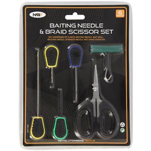 Baiting Needle Set 6pcs Baiting Tool Scissors Knot Pullers Carp Fishing Tackles