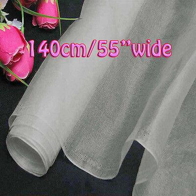 2 Yards Off White Pure Silk Organza Fabric 140cm W Dressmaking