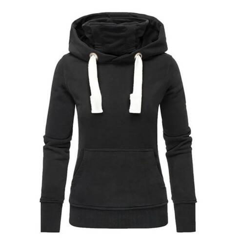 Womens Plus Size Hoodies Hoody Sweatshirt Ladies Casual Pullover Sweater Jumper