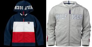 MSRP $49.50 Tommy Hilfiger Big Girls Zip-Up Logo Hoodie