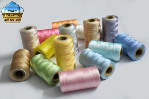 15 Bobine di Macchina di seta ricamo Threads For Brother JanomeRegno Unito Best