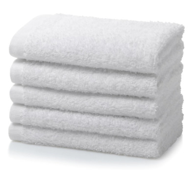 White Face Towels Wash Cloths Flannels 100/% Cotton 535gsm 12 Pack No Border