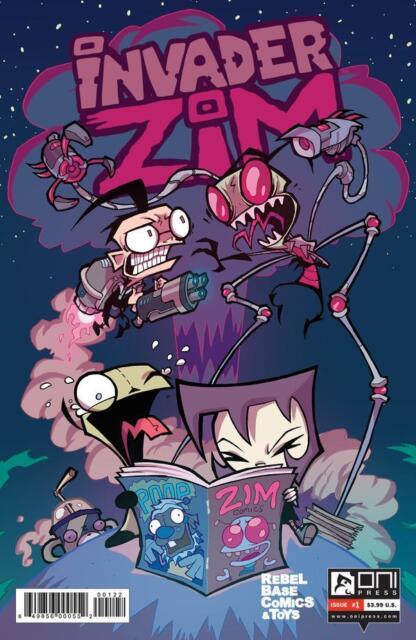 INVADER ZIM #1 Oni Press REBEL BASE COMICS Aaron Alexovitch Variant Cover 1500