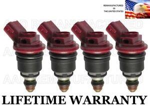RED A46-00 JECS OEM FUEL INJECTORS 4X for 1992-1999 SUBARU 2.2L-2.5L ENGINES