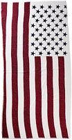 D&y Women's Americana Flag With Flower Print Scarf American Flag Art