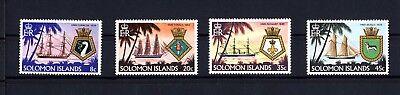 Klug Salomoninseln 405/8 ** Schiffswappen Der Royal Navy Mangelware Salomonen Australien, Ozean. & Antarktis