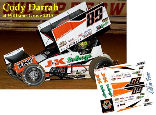 CD/_SC/_023 #89 Cody Darrah   Sprint Car  1:64 Scale DECALS