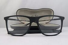 Ray-Ban RB 7054 5364 Matte Rubber Black New Authentic Eyeglasses 53mm w/Case