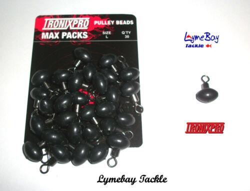 30 x Perline PULEGGIA TronixPro-Rig Componenti-MAX Pack