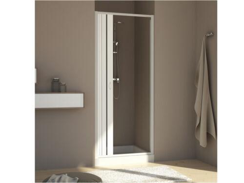 Duschtür; Nischentür; Nische; Nischendusche im Falttürsystem PVC Dusche