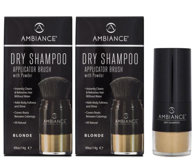 2 x Ambiance Dry Shampoo Applicator Brush w/ Powder - Blonde 14g