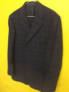 ERMENEGILDO-ZEGNA-44R-SPORTS-COAT-SUIT-JACKET-STRIPE