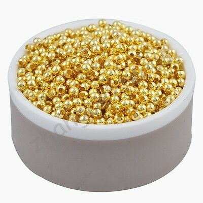 Wholesale Gold Silver Plated Alloy Space Loose Beads 3 4 5 6 8 mm Free Shipping