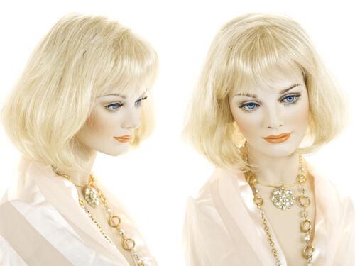 Medium Short Wig Pro Wavy Straight Blonde Brunette Red Grey Wigs