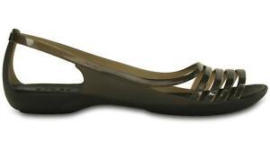 Crocs Isabella Huarache Flat Black