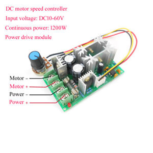 DC 12V ~ 48V 1200W 20A  motor speed controller power drive module PWM controller