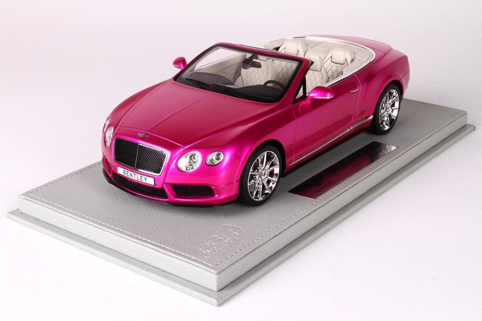 Bentley Continental GT V8 S Congreenible Flash Pink, Ltd 20 pcs w  Case BBR 1 18