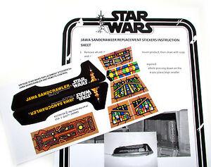 CUSTOM DIE CUT STICKERS For VINTAGE STAR WARS For JAWA SANDCRAWLER - Star wars custom die cut stickers