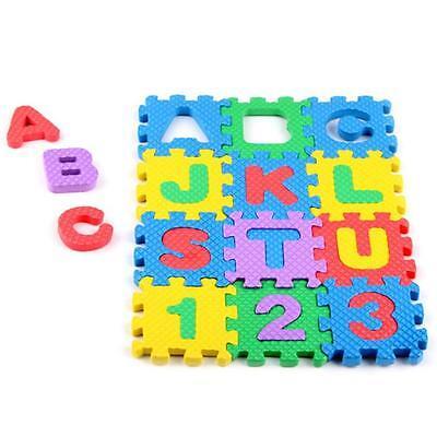 36 pcs Baby  Alphanumeric Educational Puzzle Blocks Infant Child Toy Gift MT