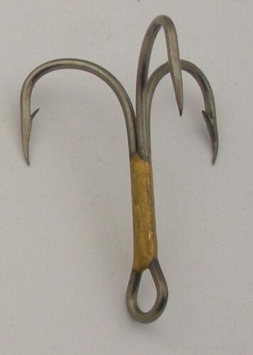 Eagle Claw 374F #4//0 50CT 2X Bronze Treble Hooks 7069