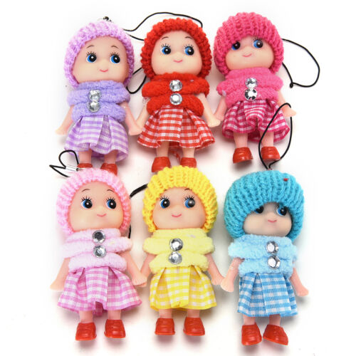 2 Pcs Soft Baby Dolls Interactive Mini Doll Phone Hanging Kids Children Toys ca