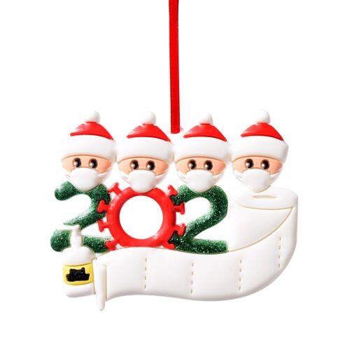 2020 Marry Christmas Hanging Quarantine Ornaments Family Personalized Xmas Decor