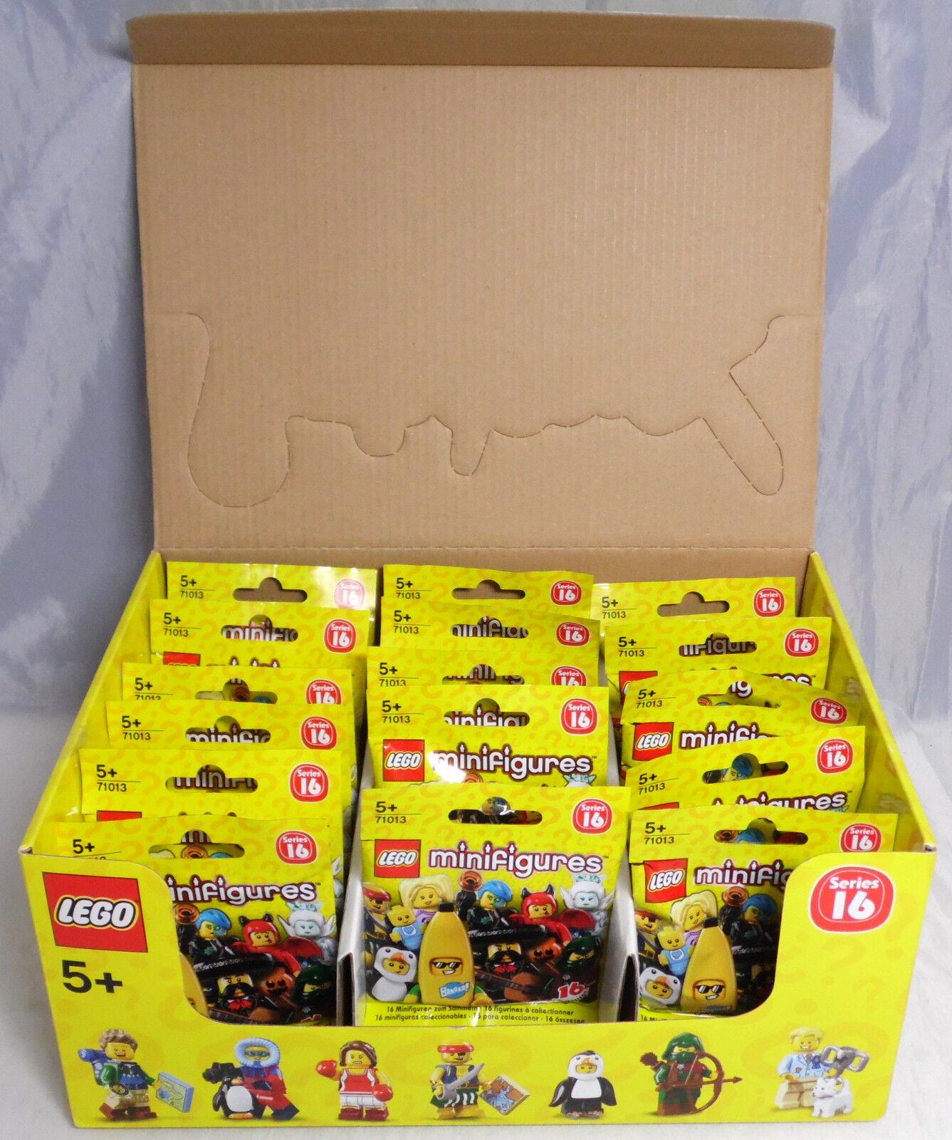 LEGO 71013 Minifiguren Serie 16, 1 kompletter Satz = 16 Figuren im Display NEU