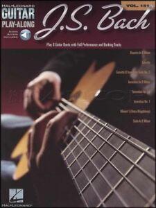 Inventif J S Bach Guitar Play-along Tab Music Book With Audio Classique Inventions-afficher Le Titre D'origine DernièRe Technologie