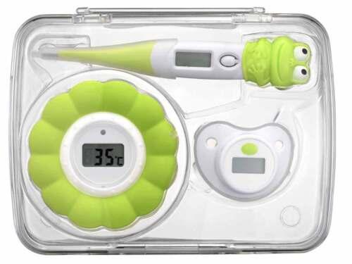 3in1 Box Baby Schnuller Bade-Wasser Wannen-Thermometer Fieber Kinder Digital