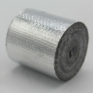 Silver-Foil-Heat-InsulatingTape-Hose-Wrap-Reflective-Shield-Adhesive-25mm-x-10m