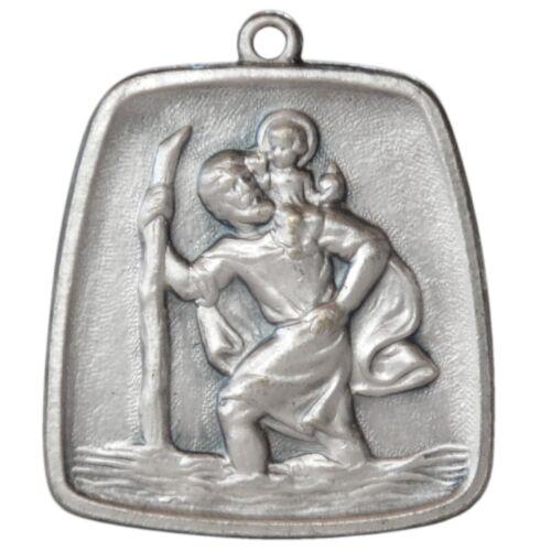 Christophorus Heilig Schutzpatron Metall Relief Anhänger Christopherus Lederband