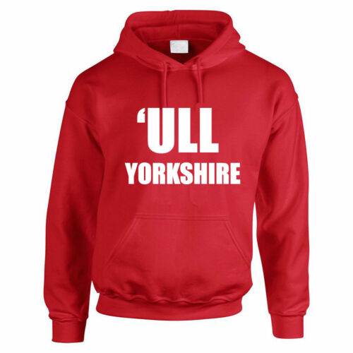 "East Yorkshire divertenti a tema Uomo Felpa Con Cappuccio /""seguito Yorkshire-SCAFO Felpa Con Cappuccio UK"