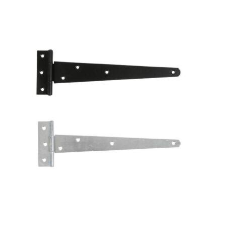 """paire 4/""""//100mm-12/""""//300mm 121A lumière tee charnière noir//bzp"""