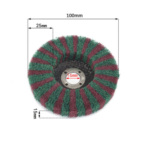 "4Pcs 4/""Nylon Abrasive Polishing Wheel Flap Grinding Disc For Metal Rust Removal"