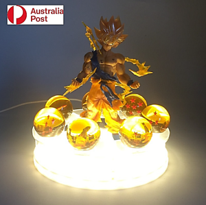 Dragon Ball Z Action Figures LED Light Son Goku Burdock Kamehameha Shenron AU