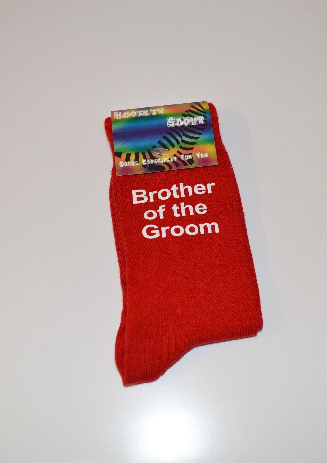 Brother Of The Groom On Red Socks - Socks Adult 5-12