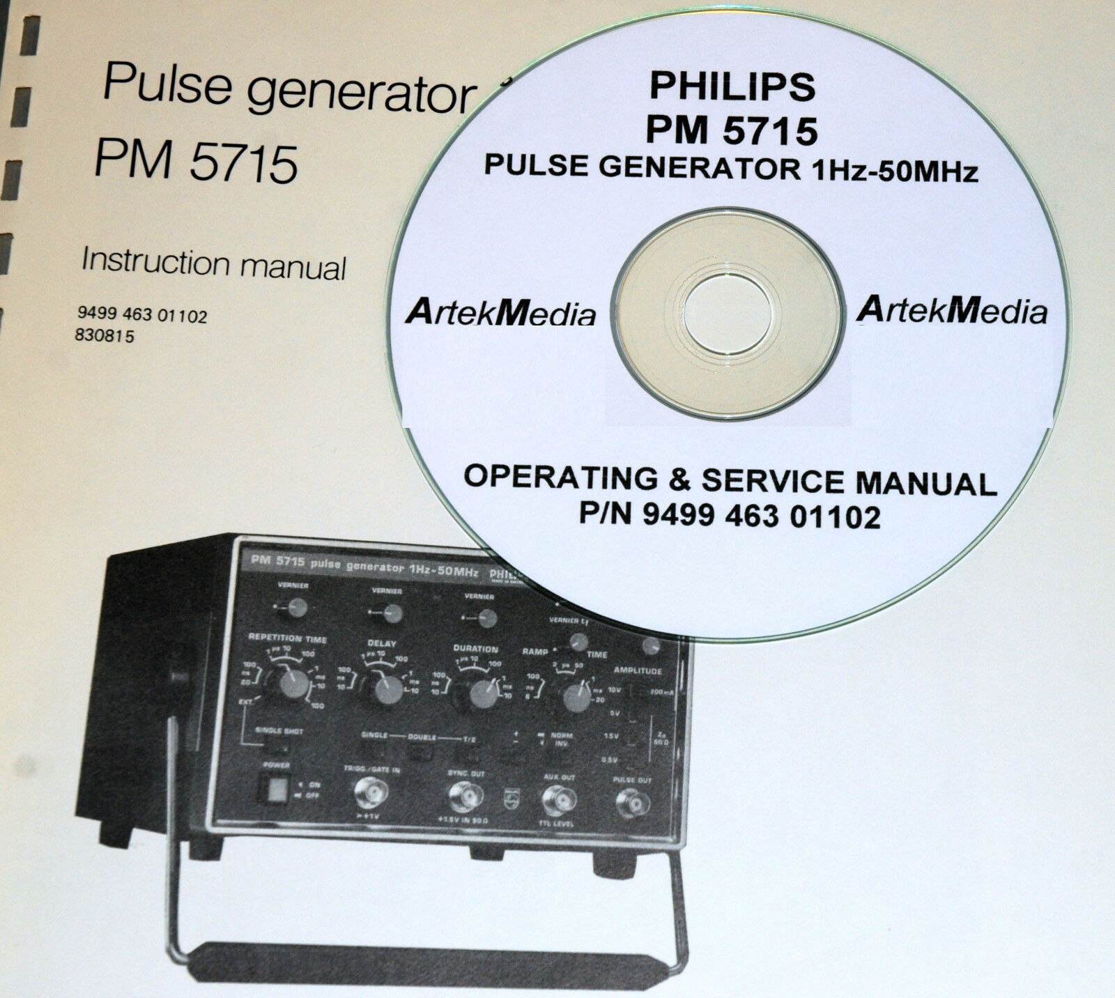 Philips PM5786 125MHz Pulse Generator Operating /& Service Manual