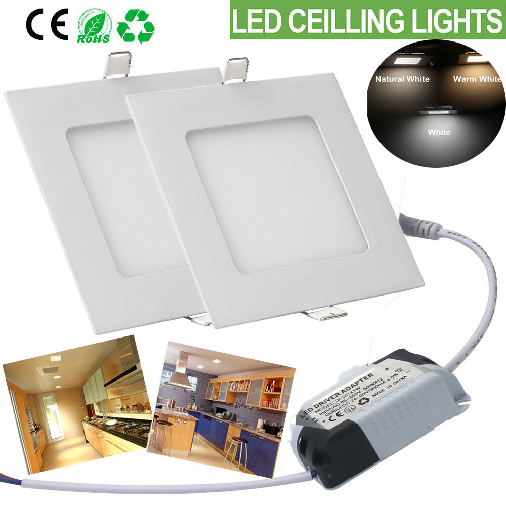 Panel LED Light Downlight led montaje techo lámpara 6w 7w 9w 12w 15w 18w 21w delgada