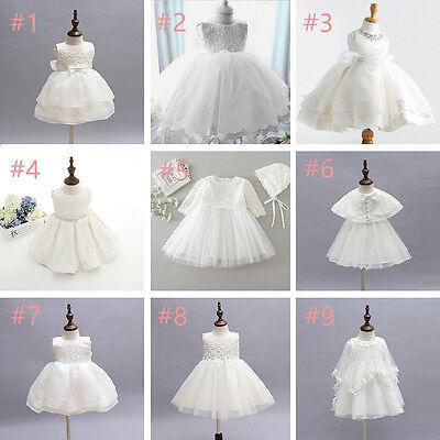 Popular Brand 0-24m Ivorywhite Toddler Baby Girl Party Wedding Baptism Christening Fomal Dress Easy To Use