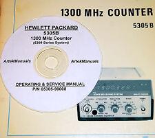 Hewlett Packard Ops+Service Manual 5305B 1300MHz Counter (good schematics)