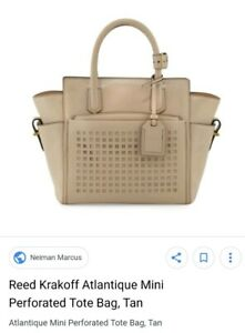 1-500-Reed-Krakoff-ATLANTIQUE-Perforated-Nude-Leather-Bag-amp-Wallet-celebrity