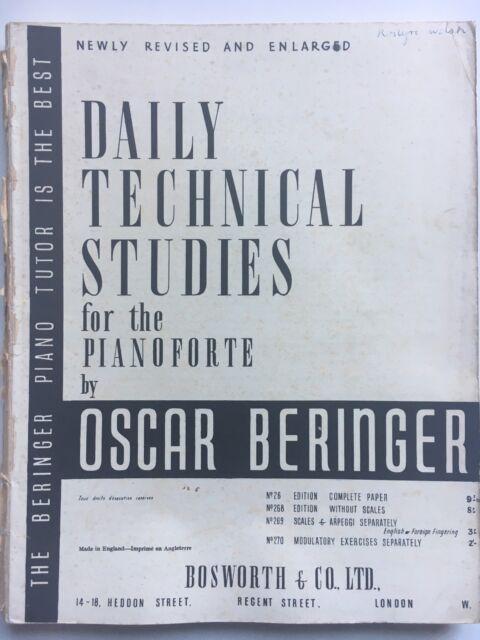 Daily Technical Studies for the Pianoforte, Oscar Beringer, 1915