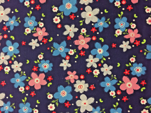 100/% Cotton Fabric Metres Curtains Craft Patchwork Sewing Vintage Cottage Garden