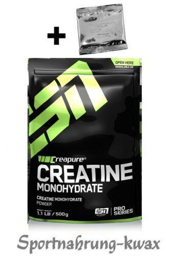 (32,70 €/Kg) ESN Creapure Creatin Monohydrate 500g + Produktprobe