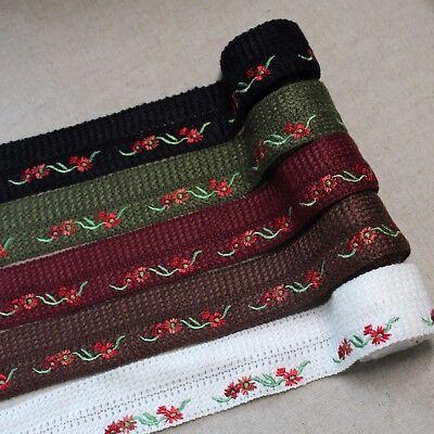 "Embroidered Knitting Bias Tape Poly Cotton trim fold 1.6""(3,3cm) laceking2013"