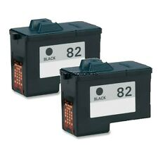 2 Pack #82 (18L0032) Black Ink Cartridges for Lexmark Z55 Z65