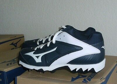04480e2e9738 Mizuno 9-Spike Swift 4 Women's Metal Softball Cleats (Navy/White) | eBay