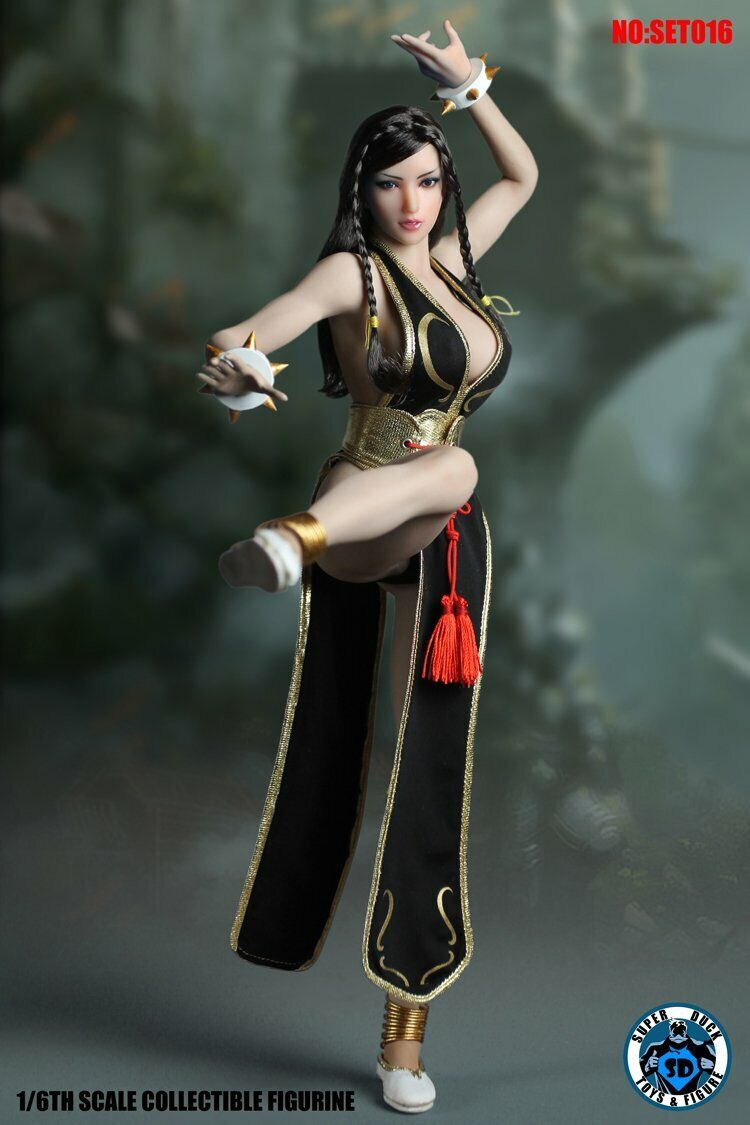 1 6 Figure Super Duck Sexy Beauty Fighting Goddess Head and Clothes Set016