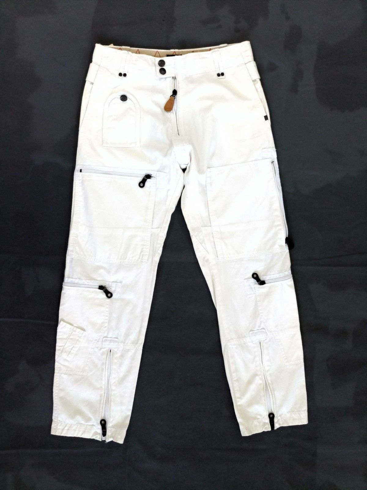 Diesel Womens Trousers Ivory Cargo Style Pants Size 26 100% Cotton Casual NEW