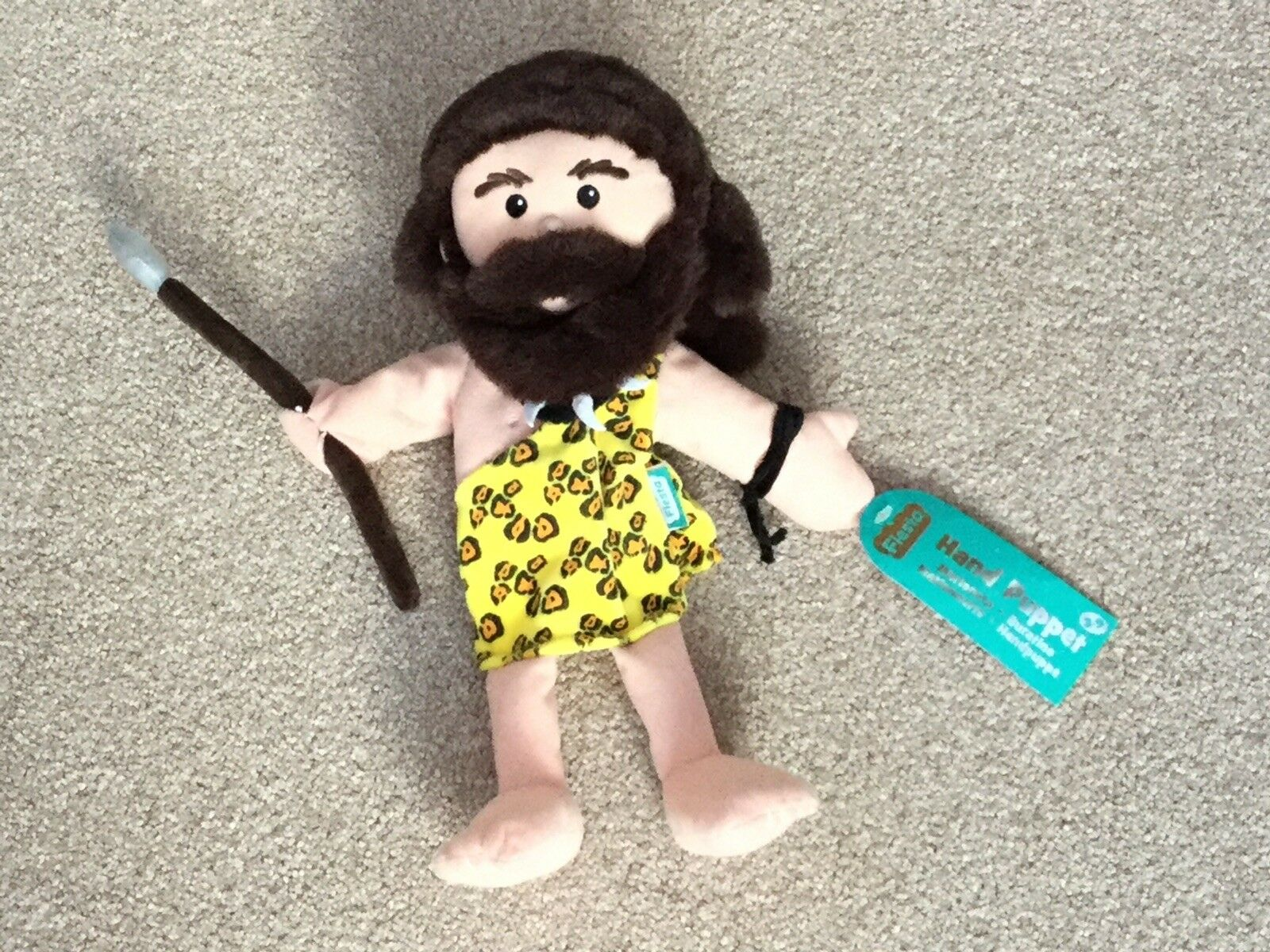 Fiesta Crafts Caveman and Cave Lady Hand Puppet